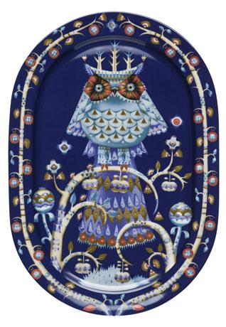 Ovali lėkštė serviravimui 41 cm mėlyna | blue