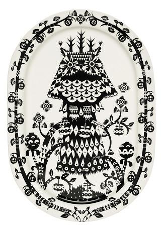 Ovali lėkštė serviravimui 41 cm juoda | black