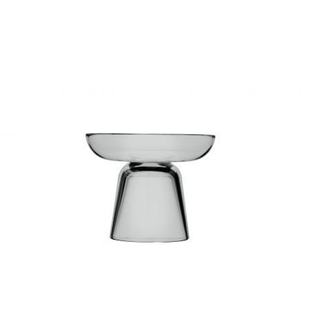 Stiklo žvakidė 107 mm pilka | grey