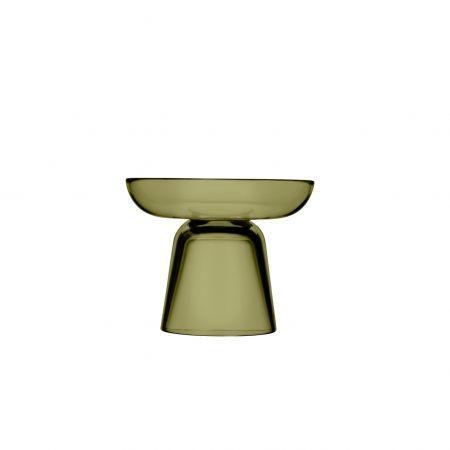 Stiklo žvakidė 107 mm samanų žalia | moss green