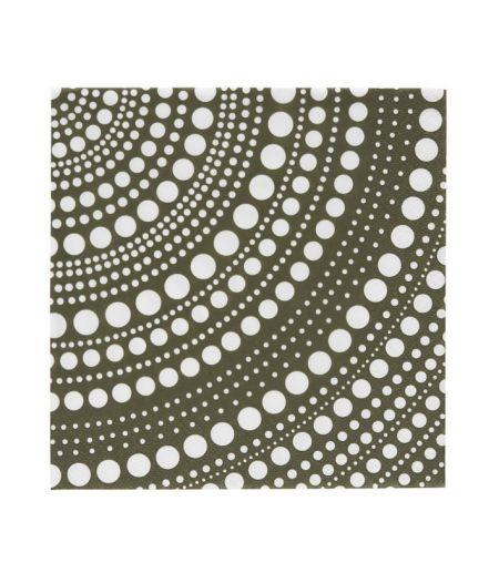 Popierinės servetėlės 33x33 cm samanų žalios | moss green